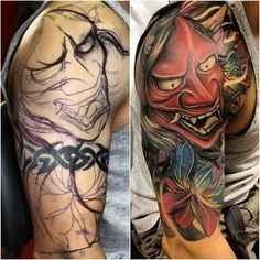 This site was designed for Japanese Tattoos and Asian Tattoos enthusiasts and also for individuals who are looking for Japanese tattoo design ideas. Tribal Tattoo Cover Up, Cover Up Tattoos, Leg Tattoos, Body Art Tattoos, Tribal Tattoos, Cool Tattoos, Tattos, Japanese Leg Tattoo, Japanese Tattoos For Men