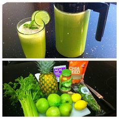 Fruits And Green Juice Green Juice Cleanse, Juice Cleanses, Water Recipes, Raw Food Recipes, Clean Recipes, Body Detox, Diet Detox, Green Juice Recipes, Juice Smoothie