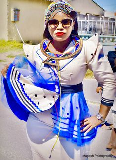 African Makeup, African Traditional Wear, Xhosa, Clothing Styles, Fashion Outfits, How To Wear, Clothes, Outfits, Fashion Suits