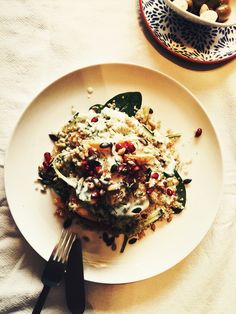 Quinoa salade with spinache and a heavenly dressing