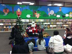 Christmas program at the library.