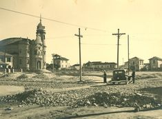 Praça Cornélia (06/09/1935) - Obras de urbanização da Praça Cornélia e pavimentação da Rua Clélia, no bairro da Água Branca.