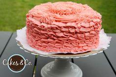 Torta Rosas y volados/ Ruffles & Roses Cake!
