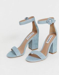 Order Steve Madden suede block heel sandals online today at ASOS for fast delivery, multiple payment options and hassle-free returns (Ts&Cs apply). Get the latest trends with ASOS. Prom Shoes, Wedding Shoes, Shoes Heels, Blue Bridal Shoes, Cute Shoes, Me Too Shoes, Steve Madden, Blue Block Heels, Girls Shoes