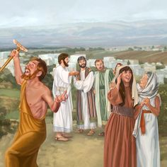 A lame man and a blind woman rejoice after Jesus heals them