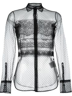Valentino sheer tulle blouse