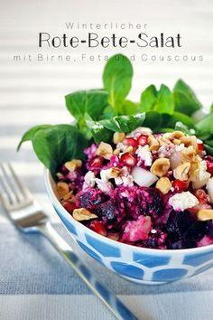 """Winterlicher Rote-Bete-Salat mit Birne, Feta und Couscous – Rezept auf """"Fee ist mein Name"""""""