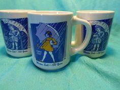 Morton Salt Girl Mugs- 3 Vintage Mortons Salt Girl Mugs by Bryan China by SETXTreasures on Etsy