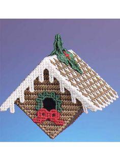 Plastic Canvas - Home Decor - Decorations & Knickknacks - Winter Refuge - #FP00199