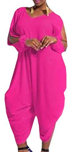 e0a9040cddb1 Womens Plus Size Loose Chiffon Romper Baggy Harem Jumpsuit Rose 4XL --  Check out this great product. (Note Amazon affiliate link)