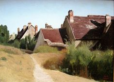 Camille Corot, Houses in Orléans, 1830
