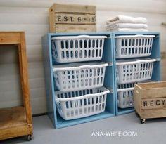 Laundry basket dresser diy