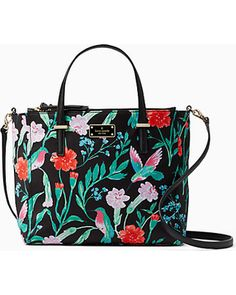 0890f25acc12 Savings on Kate Spade Wilson Road Hummingbird Floral Alyse, Black Kate  Spade Black Tote,