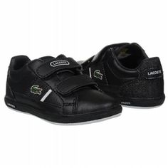 bcd9b69b41053 Lacoste Europa Strap Tod Shoes (Black White) - Kids  Shoes - M