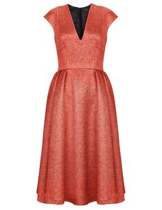 Red Sparkle Pleat Dress | Giles | Avenue32