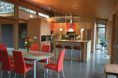 SALA Architects - love the orange, concrete floors