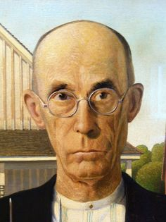 American Gothic, Grant Wood. Detail.