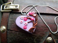 Polymer Clay Heart Pendant Series