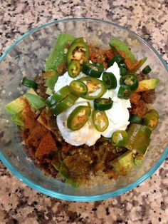 Mexican over rice. Chili pepper, cumin, garlic and the stove make a sizzling entree over brown rice. Add some fresh peppers and sour cream. Wowza