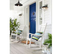 We love the vintage shape of these coastal style lanterns and sconces! They provide the perfect light for nights on the patio.