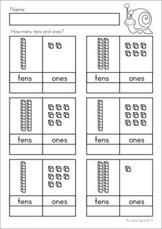 freebie tens ones place value worksheets first grade math tens ones place values. Black Bedroom Furniture Sets. Home Design Ideas