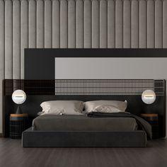 Living Furniture, Furniture Design, Furniture Collection, Bed Design, Bedside, Architecture Design, Master Bedroom, Upholstery, Interior Design