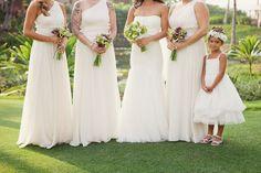 White on White Hawaii Wedding: Timothy & Sherra
