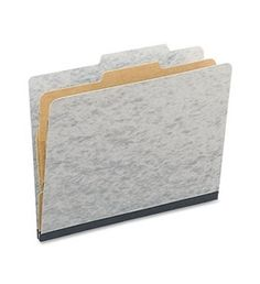 ACCO 15014 ACCO Presstex 20-Point Classification Folders, Letter, 4-Section, Gray, 10/Box