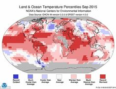 2015 temperatures 'one degree above pre-industrial levels for first time' | Daily Mail Online