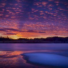 035 - Solnedgang over isen