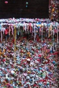 Unexpected Productions Market Theater Wall of Gum, Seattle, Washington! A bizarre tradition at Seattle's Market Theatre in Post Alley has turned into a fascinating yet very germy attraction: a giant wall of gum.The Market Theater Gum Wall is a local landmark in downtown Seattle, in Post Alley under Pike Place Market. Similar to Bubblegum Alley in San Luis Obispo, California, the Market Theater Gum Wall is a brick alleyway wall now covered in used chewing gum. Parts of the wall are covered…