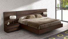 Lacquered Made in Spain Wood High End Platform Bed with Wave Design Columbus Ohio [GC510] : Prime Classic Design, Italian modern furniture: luxury designer and genuine leather sectionals, dining room and bedroom sets distributor
