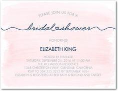 Artfully Said - Studio Basics: Bridal Shower Invitations - Wedding Paper Divas Studio Basics - Blush - Pink : Front