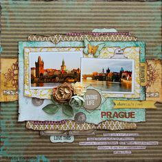 #papercrafting #scrapbook #layout idea: Kaisercraft - Be-YOU-tiful - Linda Eggleton