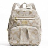 Coach Daisy Signature Backpack School Travel Laptop / Baby Diaper Bag Khaki/white - - Product Description: Inside zip, cell phone and multifunction pockets Top handle Product Features: Cheap Handbags, Large Handbags, Coach Handbags, Coach Purses, Purses And Handbags, Discount Coach Bags, Coach Bags Outlet, Cheap Coach Bags, Coach Backpack