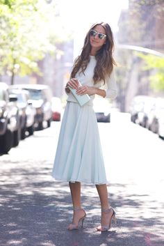 I'm much more of a jeans girl but this skirt caught my eye! I love the length and the way it flows