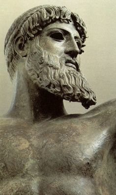 Statue of Zeus Greek Gods And Goddesses, Greek Mythology, Roman Sculpture, Sculpture Art, Greek Artifacts, Ancient Greek Art, Ancient Greece, Ancient History, Mediterranean Art