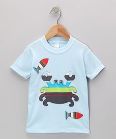 Another great find on #zulily! mini scraps Baby Blue Crab & Fish Tee - Toddler & Boys by mini scraps #zulilyfinds