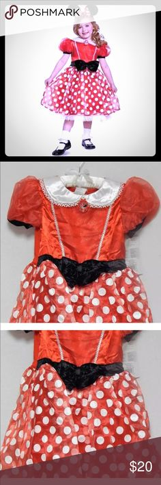 c560baa8c93c8 Disney Minnie Mouse Dress Costume 7 8 Ear Headband New with tags attached.  Disney