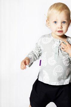 Mint-Ash Paisley Kurta Shirt from Bornsage.  children, baby clothes