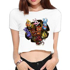 TLK Custom Women Five Nights At Freddy Crop Top *** Continue to the product at the image link. (This is an affiliate link and I receive a commission for the sales) Nursing Wear, Five Nights At Freddy's, Image Link, Maternity, Note, Crop Tops, Amazon, Detail, Awesome