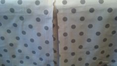 Baby crib skirt Polka Dots Grey on  white . Matching Valance avble . Fits toddlers beds. Neutral  Nursery bedding decor ,   Free Shipping by PrettyThreads22 on Etsy