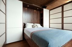 Montréal Apartment by Gepetto  MURPHY BED DIY4 CARAVAN, WITH OFFICE/STUDIO ON DAY SIDE
