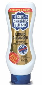 This stuff is amazing! ONLY thing that can remove our well water rust stains from porcelein kitchen sink and shower walls/floor and tub. Works great on some other surfaces too.