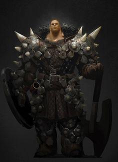 Half giant evil Knight brute ArtStation - Hunting era character concept, Sangsoo Jeong