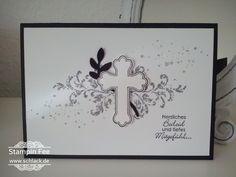 stampin mourning Card Cross All God's Grace  Trauerkarte Kreuz segenswünsche