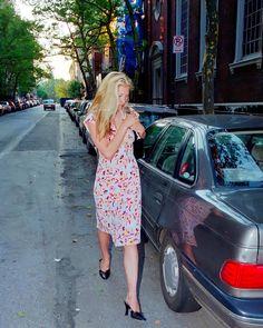 """Carolyn Bessette Kennedy HD on Instagram: """"• •New York •July 16, 1996 •Photo by: Lawrence Schwartzwald/sygma •Dress: #Chanel •Shoes: #manoloblahnik #CarolynBessetteKennedy…"""""""