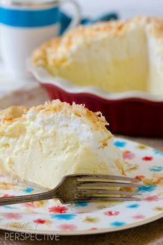 Easy Coconut Cream Pie | ASpicyPerspective.com