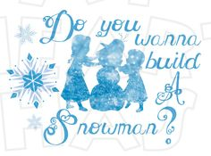 Elsa and Anna silhouettes Do you wanna build a snowman INSTANT DOWNLOAD digital clip art DIY for shirt :: My Heart Has Ears