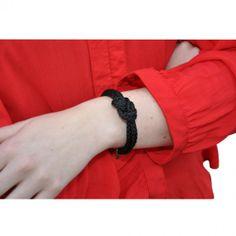 Double Daisy Bracelet - Black #bracelets #fashion #jewelry  9thelm.com